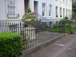Town house railings, garden gates and hand rails