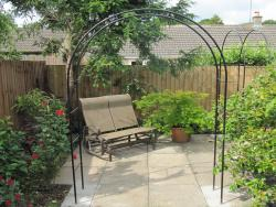Hand forged garden seats, pergolas and handrails