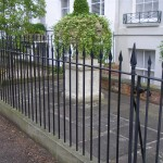 Classical railings and gate for a town house