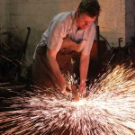 Gloucestershire Blacksmith Michael Clifford at work