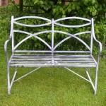 Regency style bench for sunny garden