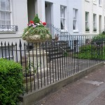 Classical railings regencyr town house