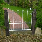 Country garden back gate