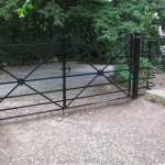 Estate gates on a driveway