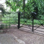 Estate gates lockable and latched