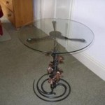 Glass topped table